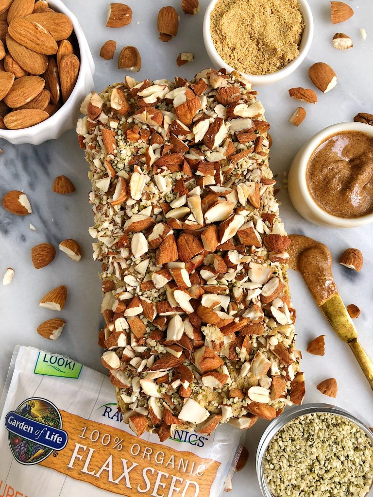 The Easiest Homemade Paleo Seed Bread made with gluten-free and dairy-free ingredients and filled with flaxseeds, chia seeds and other nutritious ingredients!