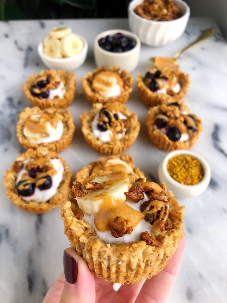 Mini Gluten-free Collagen Granola Bowls for a quick and easy breakfast recipe and they are egg-free, dairy-free and filled with collagen peptides!