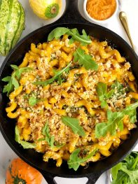Healthy Baked Vegan Mac & Cheese (gluten-free + nut-free)