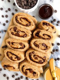 Healthier Gluten-free Dark Chocolate Chip Cinnamon Rolls