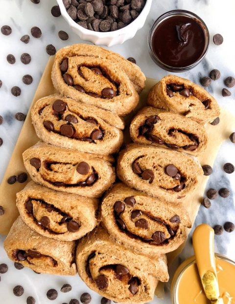Healthier Gluten-free Dark Chocolate Chip Cinnamon Rolls