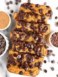 Dark Chocolate Chip Muffin Bread (gluten-free + vegan)