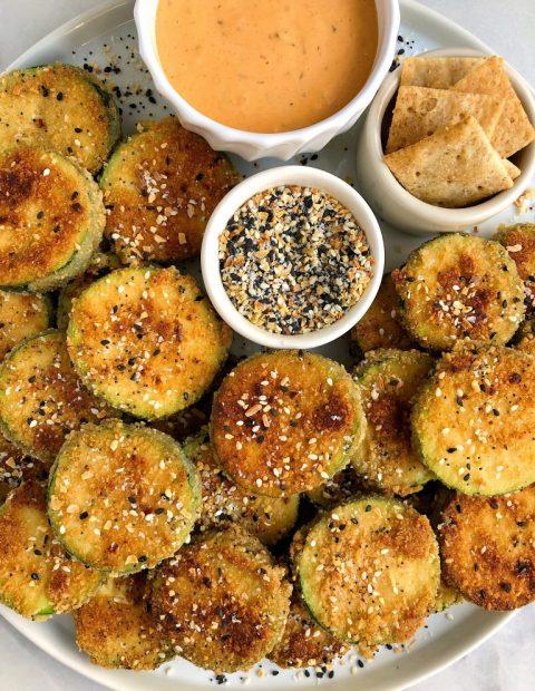 Healthier Crispy Gluten-free Zucchini Fritters (dairy-free)
