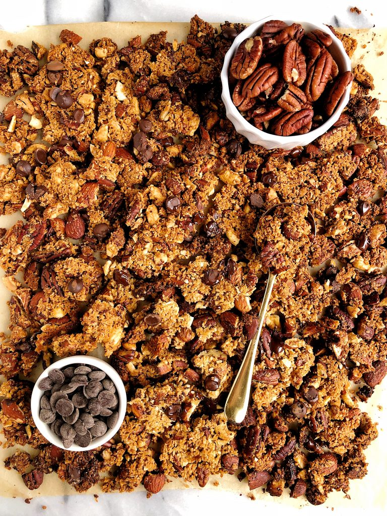 Chocolate Chip Grain Free Granola Recipe Rachlmansfield