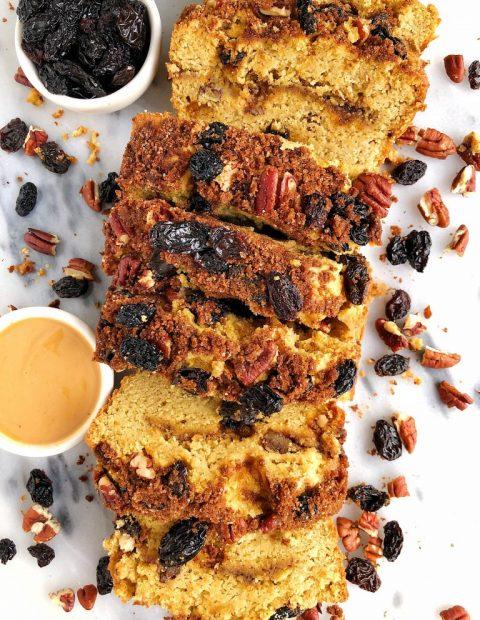Gluten-free Cinnamon Swirl Breakfast Bread (grain-free)