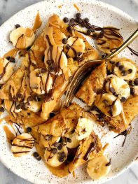 Gluten-free Pancake Roll Ups (grain-free + dairy-free)
