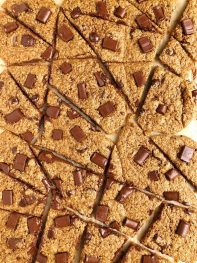 Browned Butter Chocolate Chip Cookie Sheet (gluten-free + nut-free)