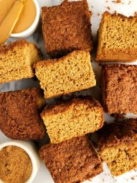 The Best Healthy Snickerdoodle Cake Bars (gluten-free + dairy-free)