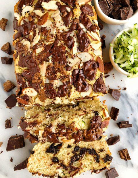 Paleo Chocolate Chunk Zucchini Bread (gluten-free)
