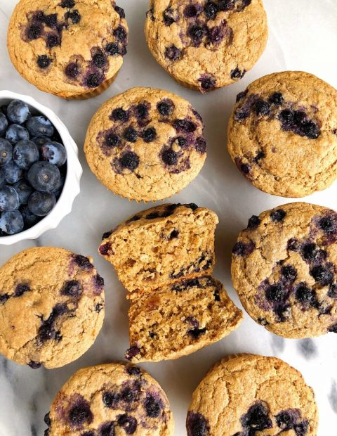 The Best Gluten-free Blueberry Muffins (egg-free + nut-free)