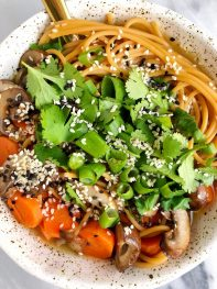 Nourishing Ginger Bone Broth Noodle Bowl (for two!)
