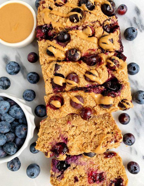 Vegan Lemon Blueberry Breakfast Bread (gluten-free + nut-free)