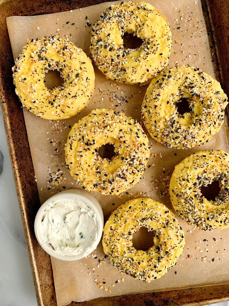 The Easiest Homemade Paleo Everything Bagels made with 8 ingredients for an easy healthy grain-free bagel recipe!