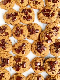 Soft and Chewy Gluten-free Chocolate Chip Banana Bread Cookies