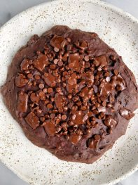 One Giant Fudgy Chocolate Chip Brownie Cookie (gluten-free)