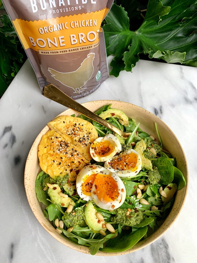 Sharing my simple recipe for 6-minute Jammy Soft-Boiled Eggs cooked in Bone Broth for extra flavor and nutrients!