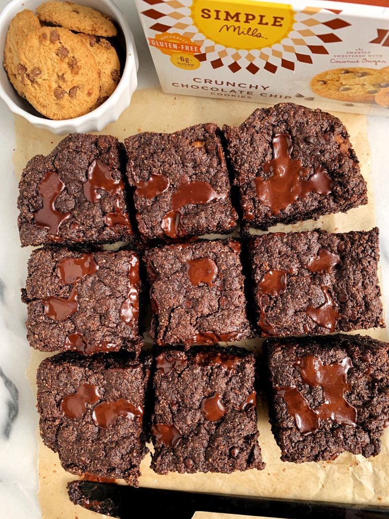 Chocolate Chip Cookie Stuffed Brownies Gluten Free Vegan