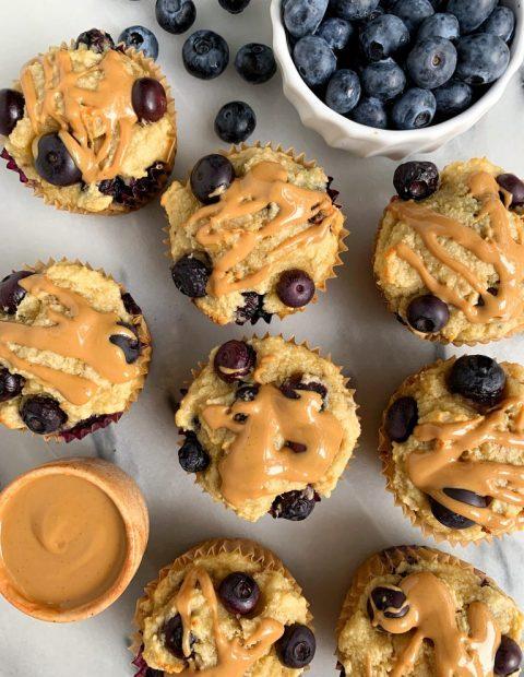 6-ingredient Paleo Blueberry Banana Bread Muffins