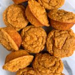 Paleo Pumpkin Mini Muffins made with only 7 ingredients for an easy and healthy pumpkin snack!