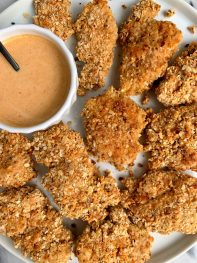 Healthier Crispy Paleo Chicken Tenders