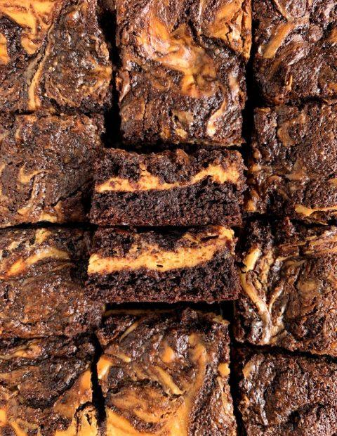 Healthy Gluten-free Cheesecake Brownies (grain-free)