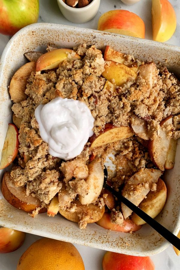 The Best Paleo Apple Pear Crisp Ever (gluten-free)