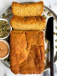 The Easiest Almond Flour Pumpkin Bread (vegan + paleo)