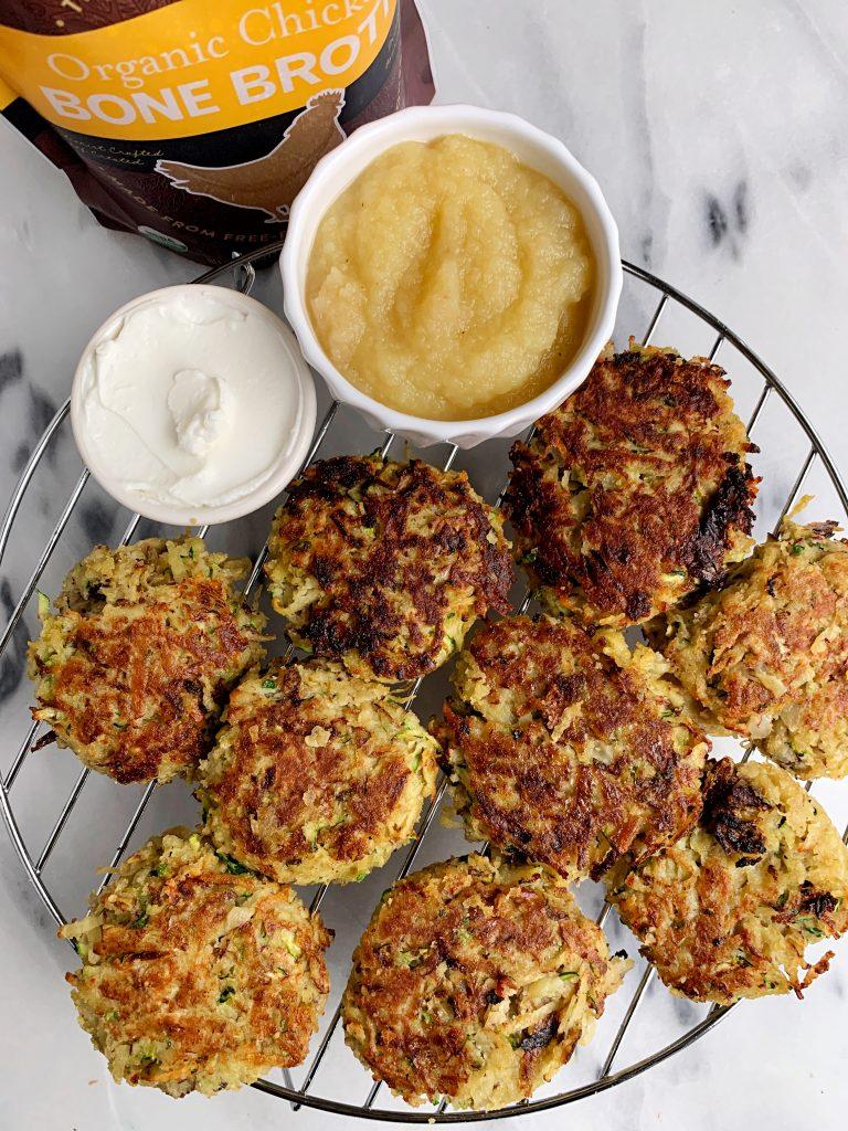 easy and healthy potato zucchini latkes