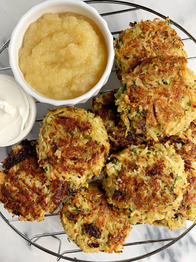 healthy potato zucchini latkes