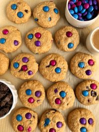 The Best Gluten-free Chocolate Chip Monster Cookies