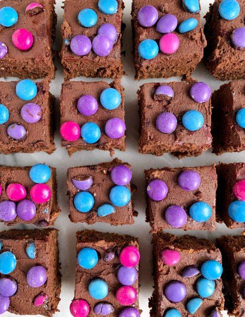 Healthier Copycat Cosmic Brownies (gluten + dairy-free)