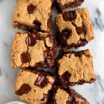 The BEST Doughy Chocolate Chip Cookie Bars (paleo + vegan)