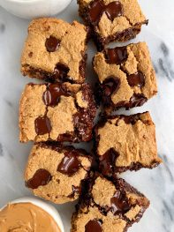 The BEST Doughy Chocolate Chip Cookie Bars (paleo + vegan)
