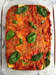 6-ingredient Paleo Zucchini Lasagna (no noodles!)
