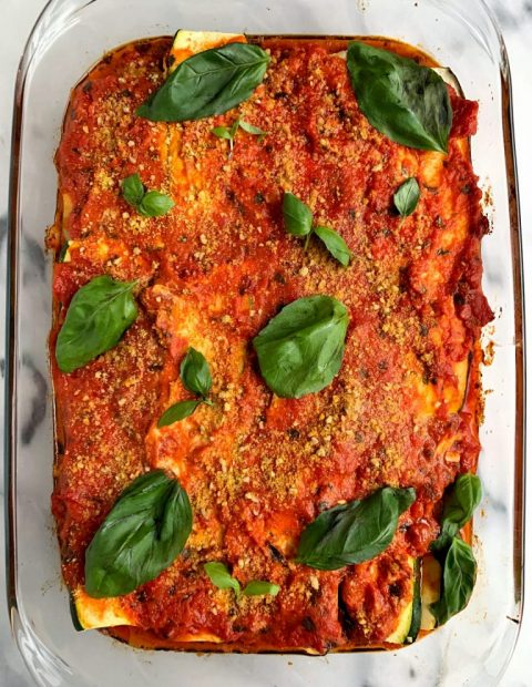 6-ingredient Paleo Zucchini Lasagna (no noodles!)