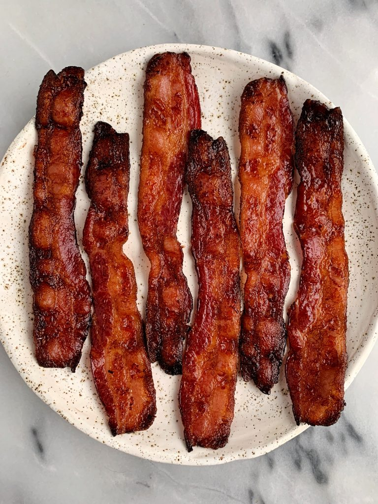 Crispy Oven Bacon is the best way to make bacon without making a huge mess on the stove (and it tastes so much better!)