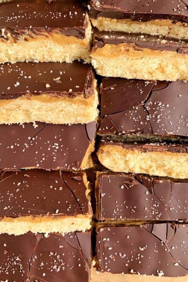 Grain-free Peanut Butter Shortbread Cookie Bars