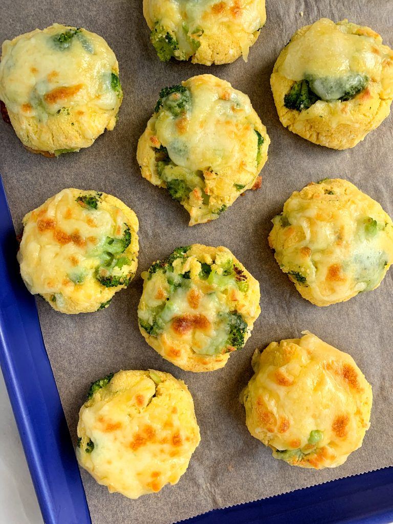 veggie grain-free biscuits with broccoli and cheddar