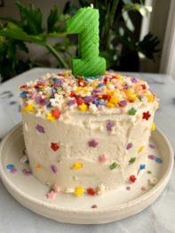 Healthy Gluten-free Smash Cake (no added sugar)