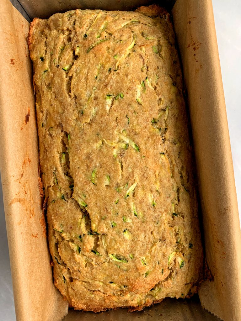 The Best Paleo Banana Zucchini Bread made with almond flour, ground flaxseed and all gluten-free and dairy-free ingredients. No added sugar and sweetened with just banana.