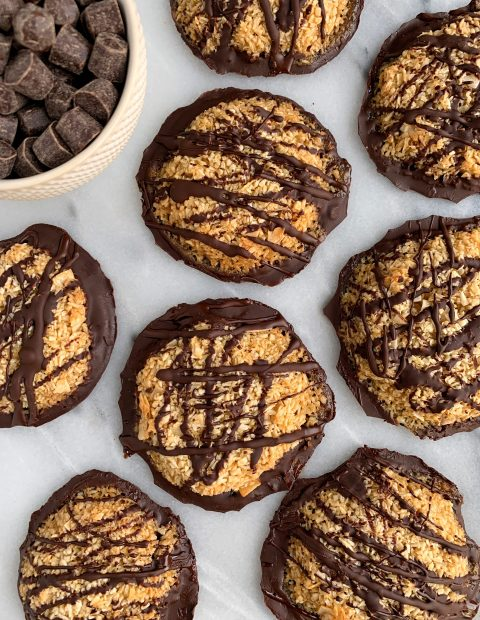 Copycat Paleo Girl Scout Samoa Cookies