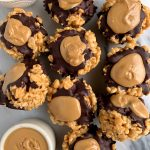 Healthy Peanut Butter Cup Rice Crispy Treats