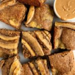 Healthy Caramelized Banana Bread Blondies are paleo, gluten-free and they are made using my favorite Simple Mills Banana Bread Mix.