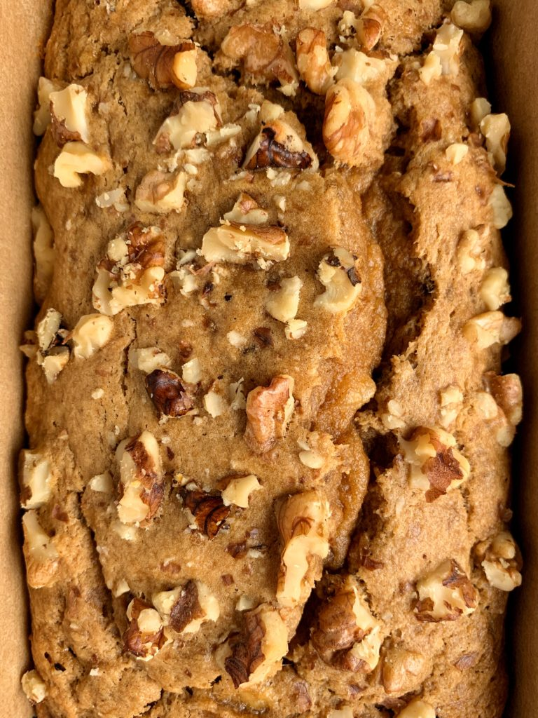 Healthy Gluten-free Olive Oil Banana Bread made with 5 key ingredients. Delicious, moist and this banana bread is dairy-free and nut free-friendly.
