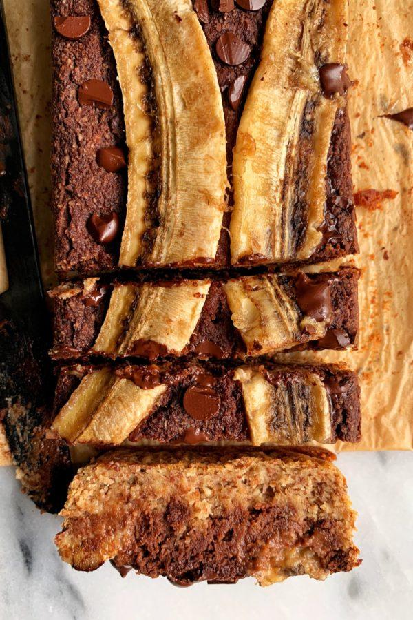 Paleo Chocolate Swirl Banana Bread (vegan)