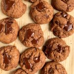 The absolute best healthy Double Chocolate Chip Cookies made with gluten-free and dairy-free ingredients and ready in just 10 minutes!