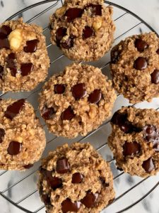 Chocolate Chip Oatmeal Muffin Tops made with all gluten-free and vegan ingredients. An easy and healthy muffin recipe to enjoy for breakfast or a sweet snack!