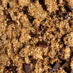 Healthy Vegan Peanut Butter Cup Granola with extra clusters! The easiest homemade granola lightly sweetened and with the best chunks. Made with healthy ingredients like rolled oats, nuts, seeds, creamy peanut butter.