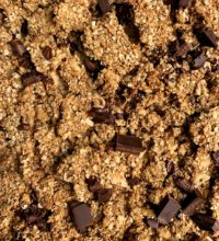 Healthy Vegan Peanut Butter Cup Granola with Clusters