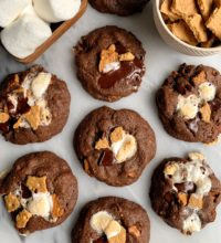 The BEST Healthier S'mores Cookies